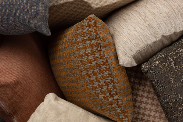 Images of different pillows in different fabrics