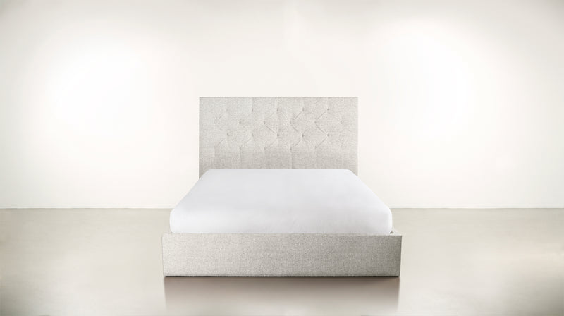 The Idealist Eastern King Bed Eastern King Boucle Knit Snow Whom. Home