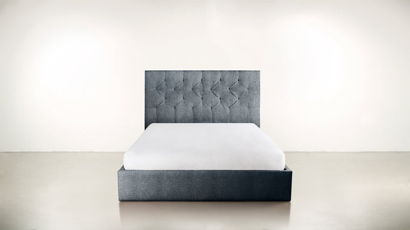 The Idealist Eastern King Bed Eastern King Classic Linen Weave Navy Whom. Home