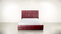 The Idealist Queen Bed Queen Bed Crushed Micro-Chenille Bordeaux Whom. Home