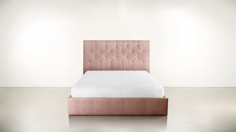 The Idealist Eastern King Bed Eastern King Soft Heathered Weave Blush Whom. Home