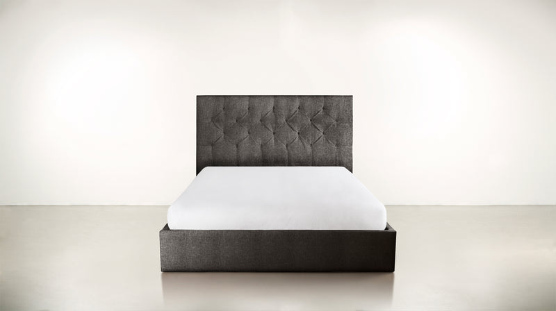 The Idealist Eastern King Bed Eastern King Structured Linen Weave Charcoal Whom. Home