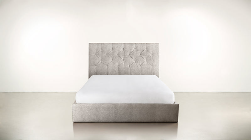 The Idealist Eastern King Bed Eastern King Structured Linen Weave Dove Whom. Home