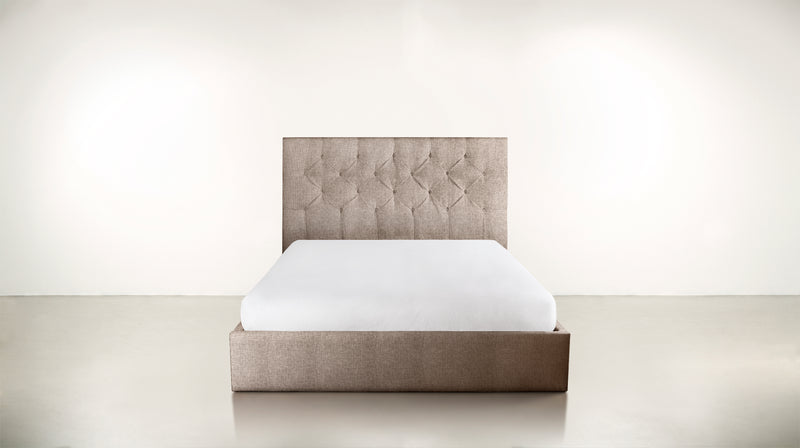 The Idealist Eastern King Bed Eastern King Structured Linen Weave Sand Whom. Home