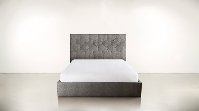 The Idealist Eastern King Bed Eastern King Structured Linen Weave Steel Whom. Home