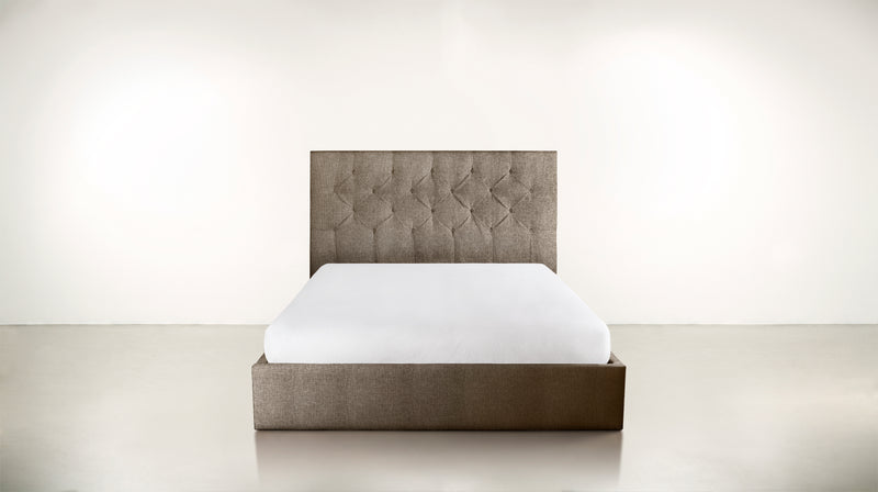 The Idealist Eastern King Bed Eastern King Structured Linen Weave Taupe Whom. Home