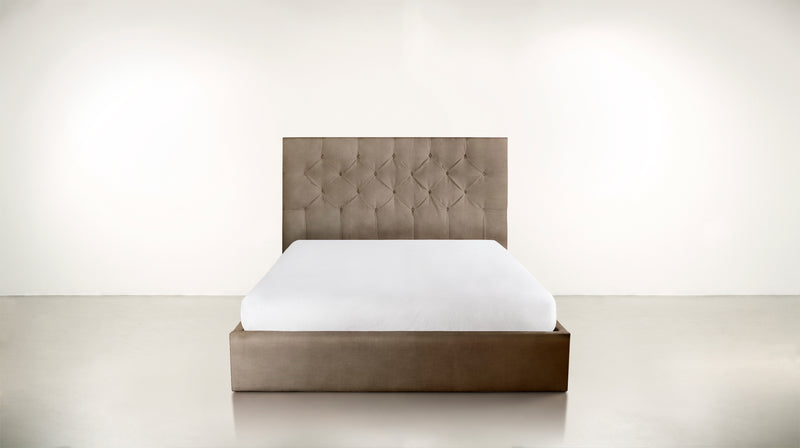 The Idealist Eastern King Bed Eastern King Structured Velvet Biscotti Whom. Home