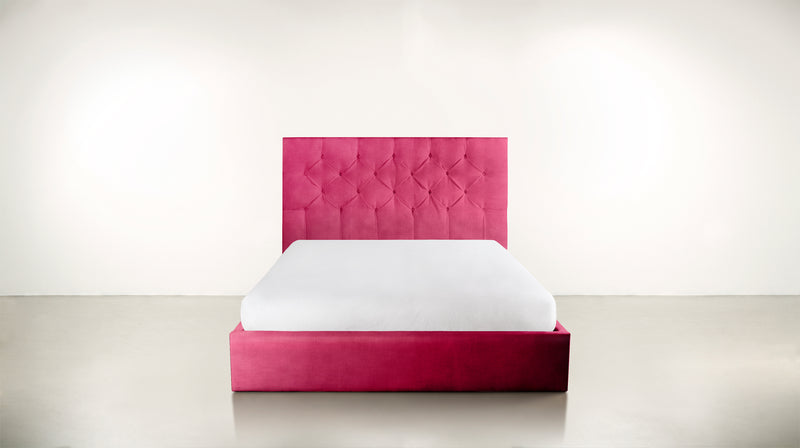 The Idealist Eastern King Bed Eastern King Structured Velvet Flamingo Whom. Home