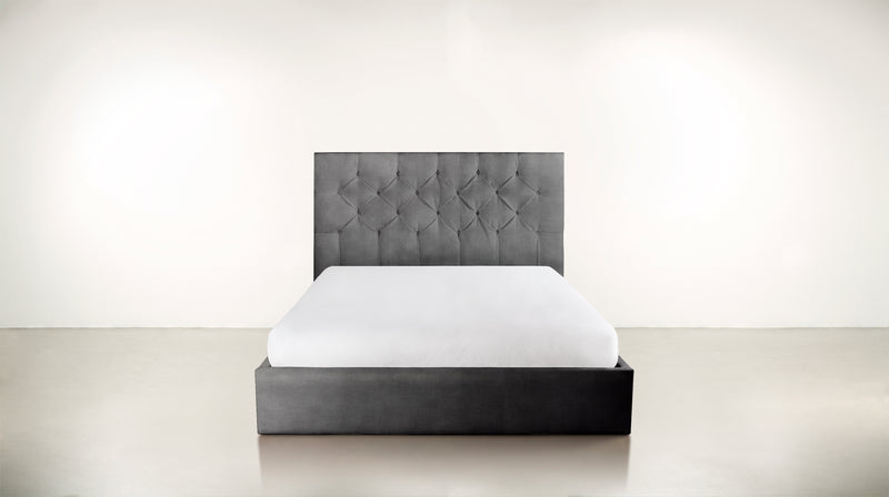 The Idealist Eastern King Bed Eastern King Structured Velvet Gladiator Gray Whom. Home