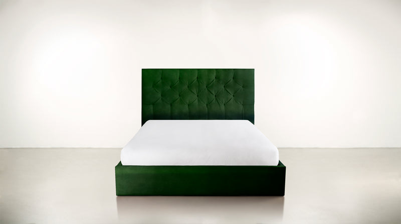 The Idealist Eastern King Bed Eastern King Velvet Knit Evergreen Whom. Home