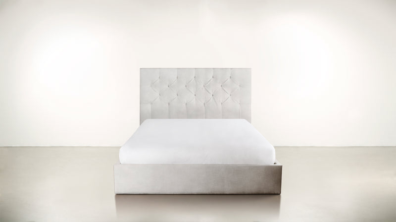 The Idealist Eastern King Bed Eastern King Velvet Knit White Whom. Home