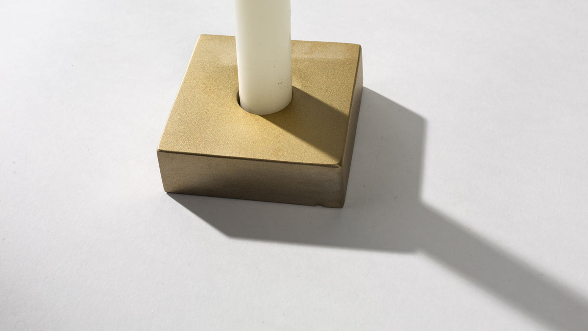 Square Peg Round Hole Candle holder  Whom. Home