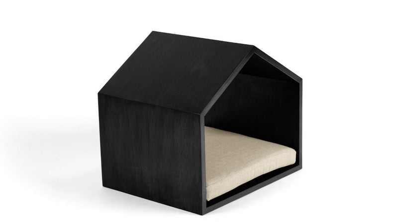 Little House on the Prairie Pet Bed Pet Bed Cross Linen Weave Bone / Black / Large Whom. Home