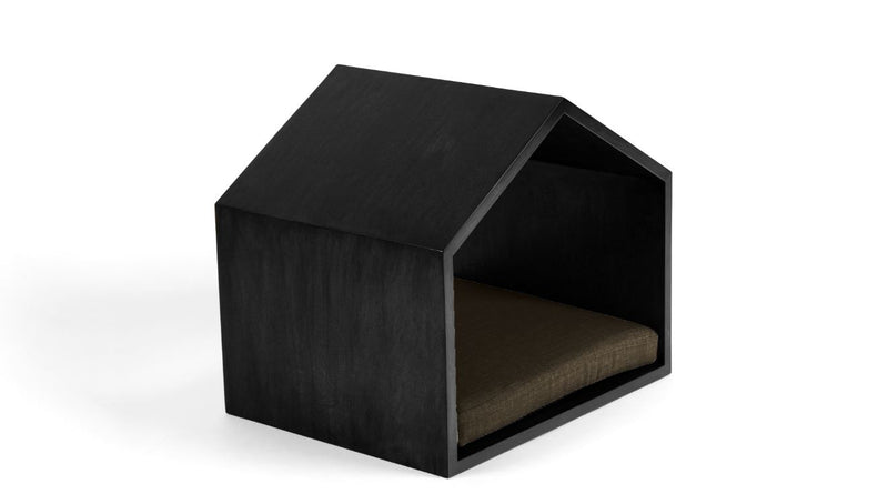Little House on the Prairie Pet Bed Pet Bed Cross Linen Weave Chocolate / Black / Small Whom. Home