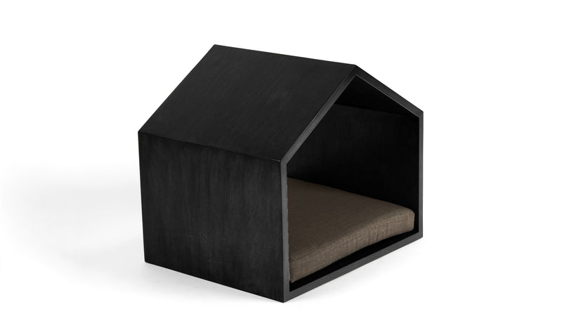 Little House on the Prairie Pet Bed Pet Bed Cross Linen Weave Mocha / Black / Small Whom. Home