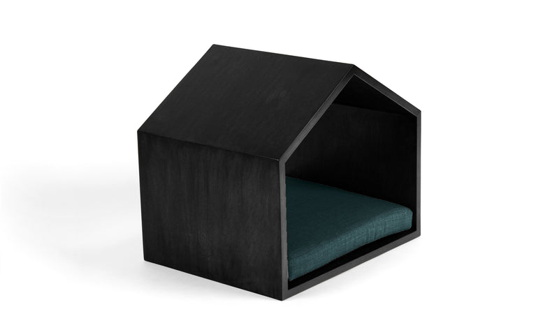 Little House on the Prairie Pet Bed Pet Bed Cross Linen Weave Peacock / Black / Large Whom. Home