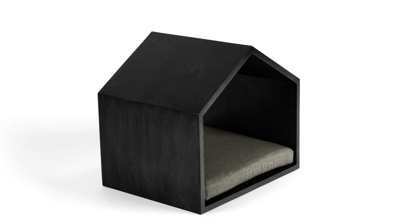 Little House on the Prairie Pet Bed Pet Bed Cross Linen Weave Platinum / Black / Large Whom. Home