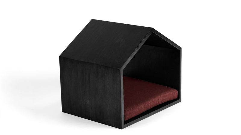 Little House on the Prairie Pet Bed Pet Bed Cross Linen Weave Ruby / Black / Small Whom. Home
