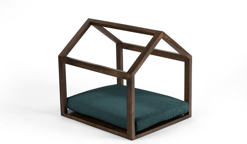 Cabana Pet Bed Pet Bed Cross Linen Weave Peacock / Chocolate / Small Whom. Home