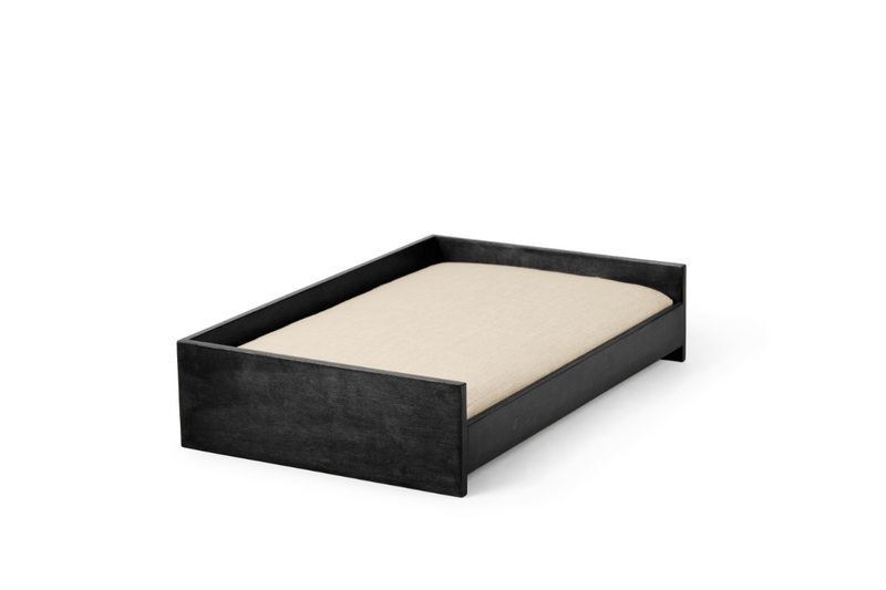 Sound Sleeper Pet Bed Pet Bed Cross Linen Weave Bone / Black / Large Whom. Home