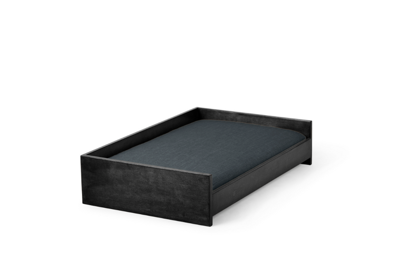 Sound Sleeper Pet Bed Pet Bed Cross Linen Weave Denim / Black / Small Whom. Home