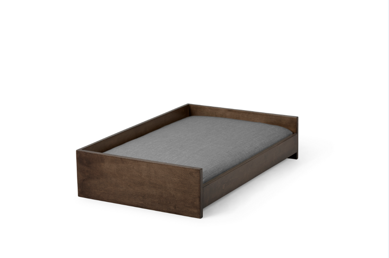 Sound Sleeper Pet Bed Pet Bed Cross Linen Weave Grey / Chocolate / Large Whom. Home
