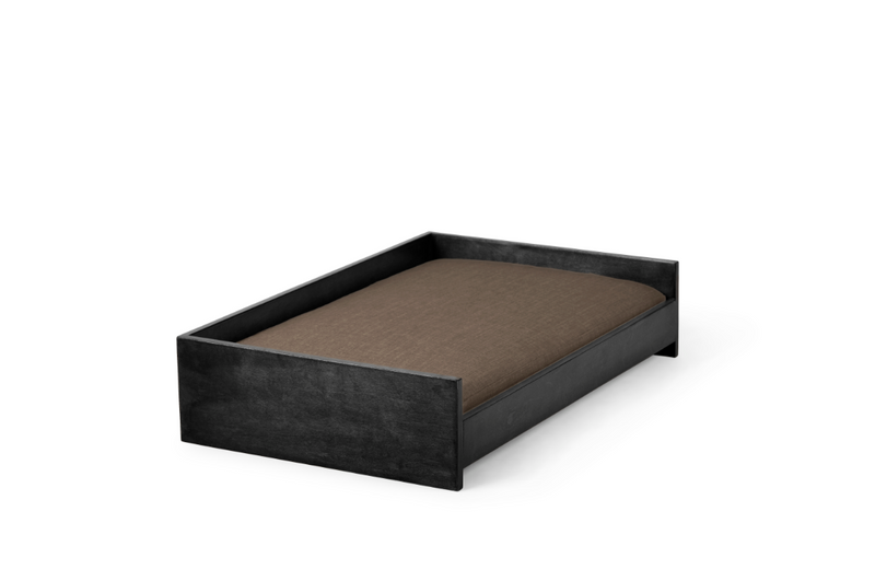 Sound Sleeper Pet Bed Pet Bed Cross Linen Weave Mocha / Black / Small Whom. Home