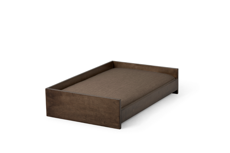 Sound Sleeper Pet Bed Pet Bed Cross Linen Weave Mocha / Chocolate / Large Whom. Home
