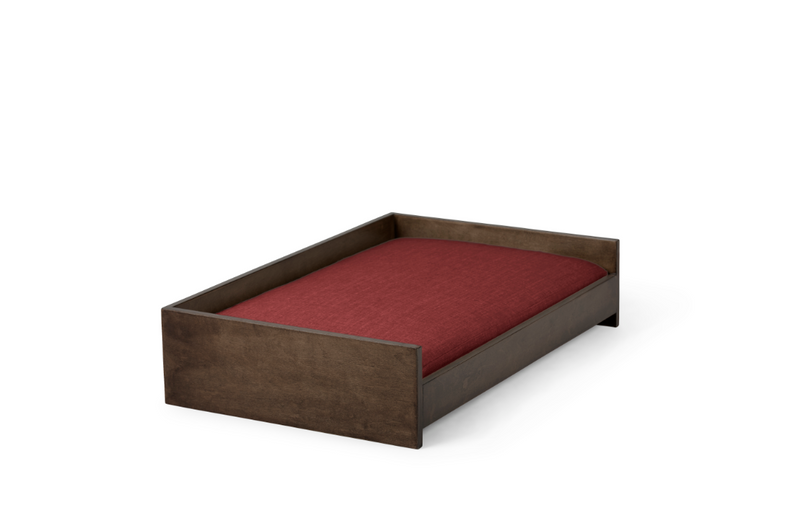 Sound Sleeper Pet Bed Pet Bed Cross Linen Weave Ruby / Chocolate / Small Whom. Home