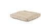 Square Pet Bed Pet Bed Cross Linen Weave Bone / Large Whom. Home