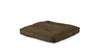 Square Pet Bed Pet Bed Cross Linen Weave Chocolate / Large Whom. Home