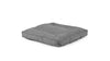 Square Pet Bed Pet Bed Cross Linen Weave Grey / Medium Whom. Home