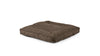 Square Pet Bed Pet Bed Cross Linen Weave Mocha / Small Whom. Home