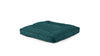 Square Pet Bed Pet Bed Cross Linen Weave Peacock / Medium Whom. Home