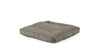 Square Pet Bed Pet Bed Cross Linen Weave Platinum / Large Whom. Home