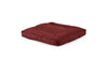 Square Pet Bed Pet Bed Cross Linen Weave Ruby / Large Whom. Home