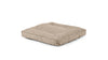 Square Pet Bed Large / Cross Linen Weave Sand Whom. Home
