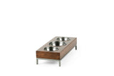Three Bowl Triple Threat Feeder Pet Bowl  Whom. Home