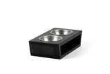 Air Head Pet Feeder Pet Bowl Silver / Black / Small Whom. Home