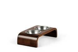 Downward Pet Feeder Pet Bowl Silver / Chocolate / Small Whom. Home
