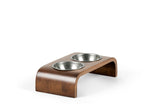 Downward Pet Feeder Pet Bowl Silver / Hazel / Small Whom. Home