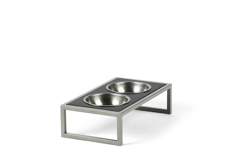 Raisin' the Bar Pet Feeder Pet Bowl Silver / Black / Large Whom. Home