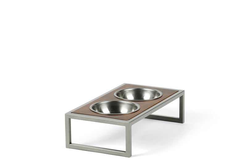 Raisin' the Bar Pet Feeder Pet Bowl Silver / Hazel / Small Whom. Home
