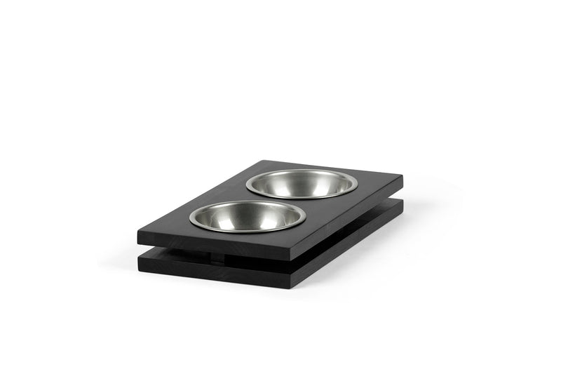 Floating Pet Feeder Pet Bowl Silver / Black / Small Whom. Home