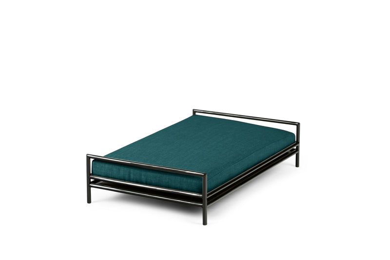 The Amorist Pet Bed Pet Bed Cross Linen Weave Peacock / Black / Medium Whom. Home