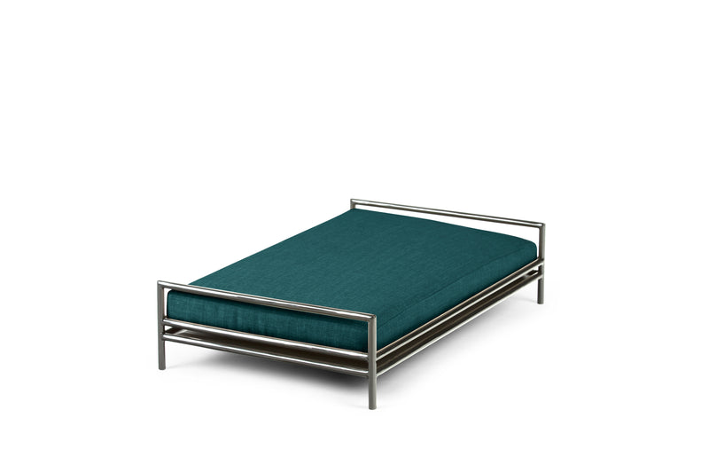 The Amorist Pet Bed Pet Bed Cross Linen Weave Peacock / Silver / Large Whom. Home