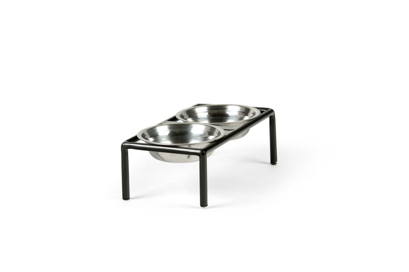 Amorist Pet Feeder Pet Bowl Silver / Black / Medium Whom. Home