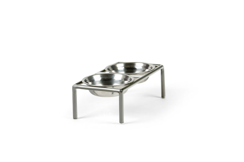 Amorist Pet Feeder Pet Bowl Silver / Silver / Medium Whom. Home
