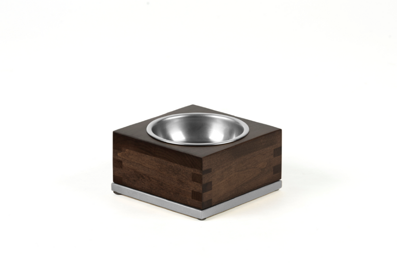 Dovetail Pet Bowl Pet Bowl Silver / Chocolate / Medium Whom. Home