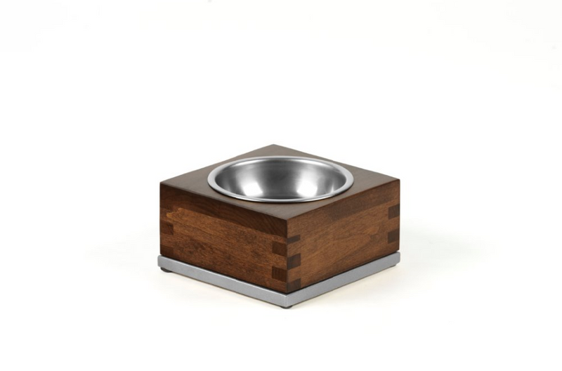 Dovetail Pet Bowl Pet Bowl Silver / Hazel / Small Whom. Home